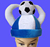 Factory direct sell plush football fans hats carnival hat suporter hat