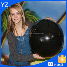 Black beach ball inflatable toy balls