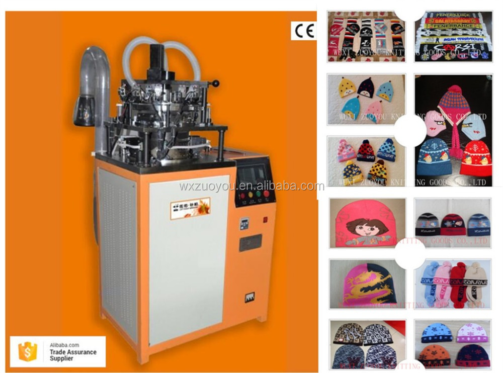 High Speed CE ISO Hat Knitting Machine Fan football scarf making machine