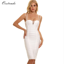 2018 new arrival sexy hot sell bandage dress mature women party dress