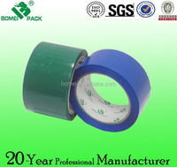 Green colored adhesive packing tape with clolorful