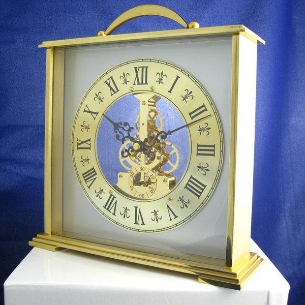 Antique Looking Gold Table / Desk Clock