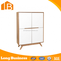 High-grade White Wood sideboard for dining room with 4 doors