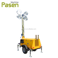 Electric light tower / mobile lighting / lighting tower with trailer generator