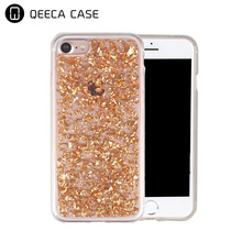 For iphone 6 sparkling shiny glitter case/for iphone 7 /7 plus gold foil Gel soft TPU case shell Rose gold pink silver hot sell