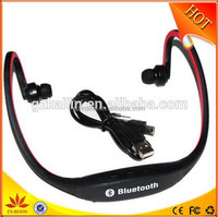 sport stereo wireless headphones with fm radio for running