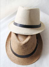 Eco-friendly wholesale folding promotional men straw hat