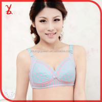 YWX21 Cheap price anti-sagging open buckle nursing bra women underwear brand no rims wholesale bra