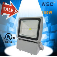 UL electrolier 1000 watt led flood light 100w with motion sensor parking light