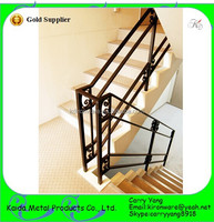 Simple Powder Coated Low Carbon Steel Pipe Stair Handrail
