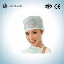 Food Industrial Disposable Nonwoven Pp Fabric Caps / Clip Cap/Hair Net Cap