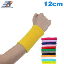 12 cm Sport Colorful Cotton Wrist Support Wristband Exercise Wrist Band Wrister For Sport