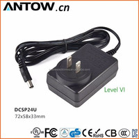 OEMODM European/ USA/ UK/ Australia/ Brazil 12V 2A Power Adapter