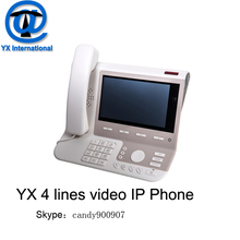 HD voice voip sip phone 4 line video iax2 phone , asterisk android 4 sip video phone support PSTN
