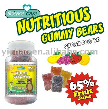 GMP certified new product Multivitamin Gummy Bear Pectin Candies