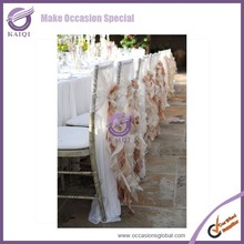 K3983 fantastic sheer embroidery made in china wedding chair covers