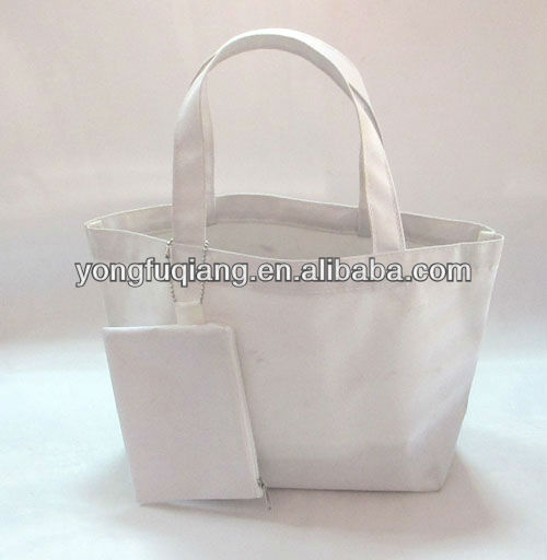 White handle polyester nylon bag for promotion