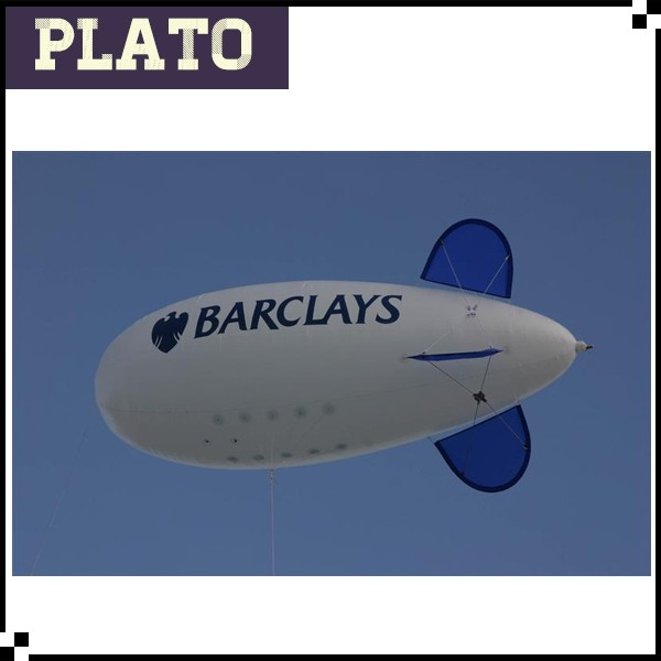 Barclay promotion flying inflated blimp helium zeppelin for sale