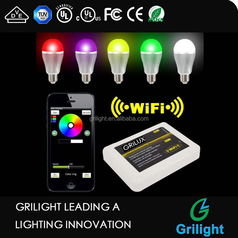 e27 led bulb 9w RGB e27 remote control 16 color rgb led bulb light 9w led bulb