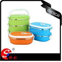 Keep food warm three layers stainless steel lunch box for kids