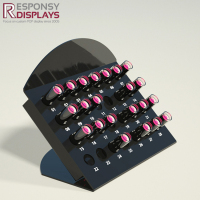 Black Acrylic Lipstick Eyebrow Pencil Display Rack
