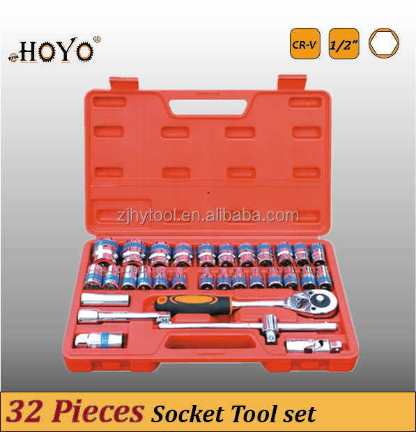 "1/2"" Dr.32PCs High Quality Box Spanner Socket Set/Hand Tools"