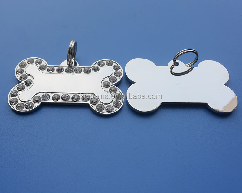 Wholesale Blank Crystal Dog ID Tag Pet Tag