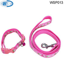 good quality fashion design custom print logo dog leash and collar glowing led with A Discount