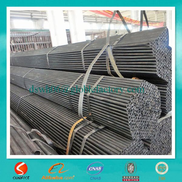 bottom price black annealed welded round steel tubular