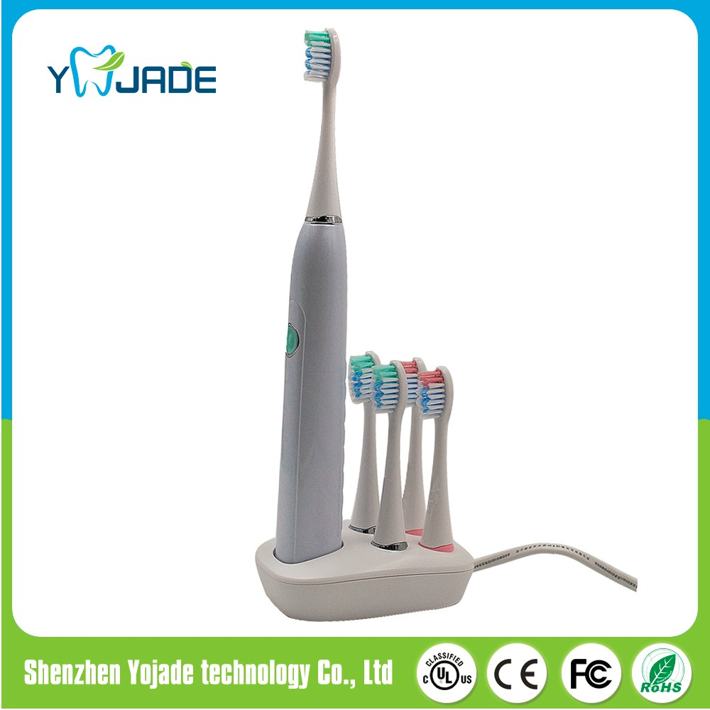 Waterproof IPX7 Sonic Toothbrush 3 Brushing Modes Rechargeable Electric Ultrasonic Toothbrush with Inductive Charging