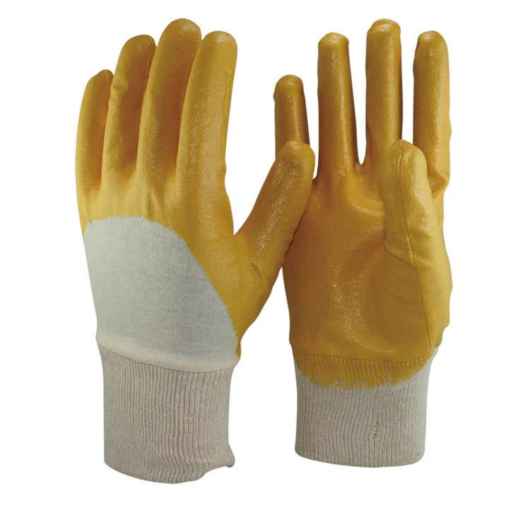 High Performance Oil Industrial Yellow Nitrile <strong>Gloves</strong>