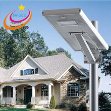 80W LED Solar Power Street Light 100W Solar Panel 64Ah Battery All in one solar auto sensor light integrated solar street light