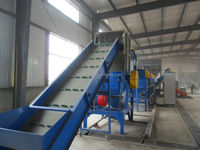 mixed new type waste plastic bottle recycling washing crushing drying Line