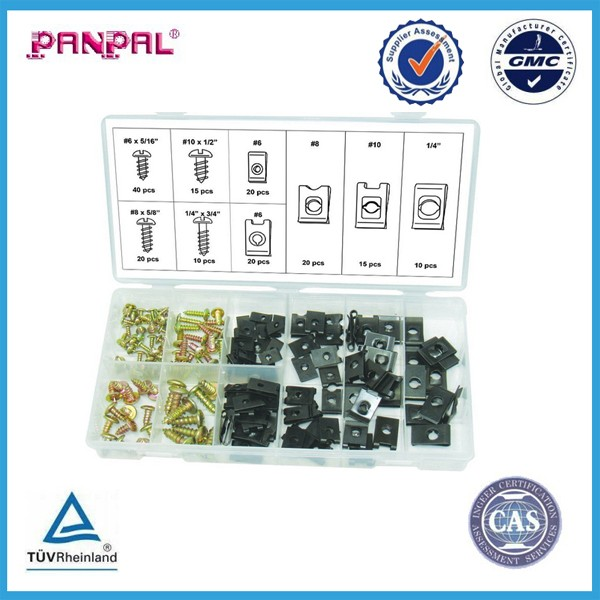 170pc U-Clip & Screw Assortment - Secure Electrical Wires & Cables, Phone Lines