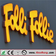 Cheap price Rimless LED Channel Letters Epoxy Resin Material Letter Sign