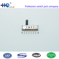 Affordable price vertical slide switches, 1p4t slide switches, slide switch 4 positions, SS-14D01