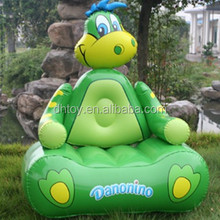 cute animal model shaped pvc inflatable floating plastic cooler sofa