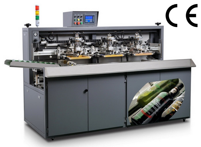 semi autoscreen printing machine for plastic bottles SZD-102A