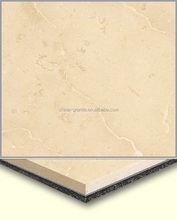 Factory Cheap Prices Golden Beige Aluminum Plastic Laminated 8mm Thin marble