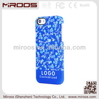 high quality OEM blue big camera hole 3D print slim cell phone case cover for iphone 5 5s 4