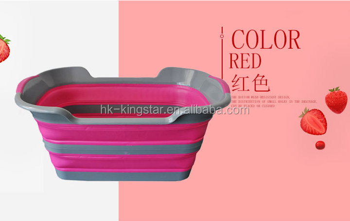 Collapsible silicone Large Folding Storage Basket space Saving  Container Organizer for Kids Toys