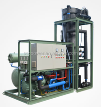 10T/24hr Water Cooled Tube Ice Making Machines , SUS304 Tubes And Sheel Evaporator