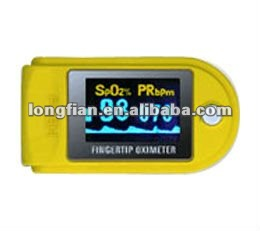 Handheld Yellow Finger pulse oximeter with CE for sale