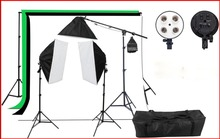 Flash studio 3 softbox fotocamera studio softbox foto video luce professionale fondali <span class=keywords><strong>kit</strong></span>