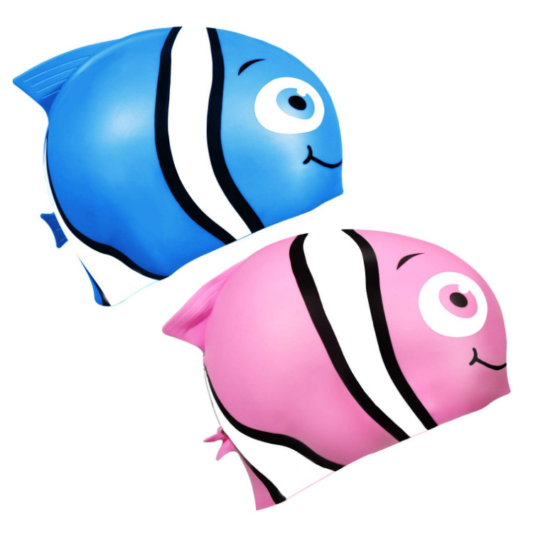 New Swim Cap for Smart Girls Pink Fish