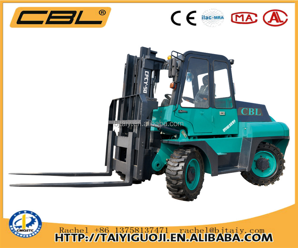 CPCY-50 5t 4x4 cross-country quality chinese pickup truck forklift for sale