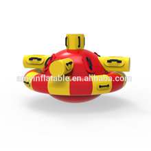 2018 crazy kids adults inflatable disco boat Saturn round inflatable float water toys for the lake