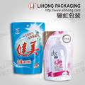Various Sizes Doypack Packing Bags with Customized Printing for Liquid Laundry