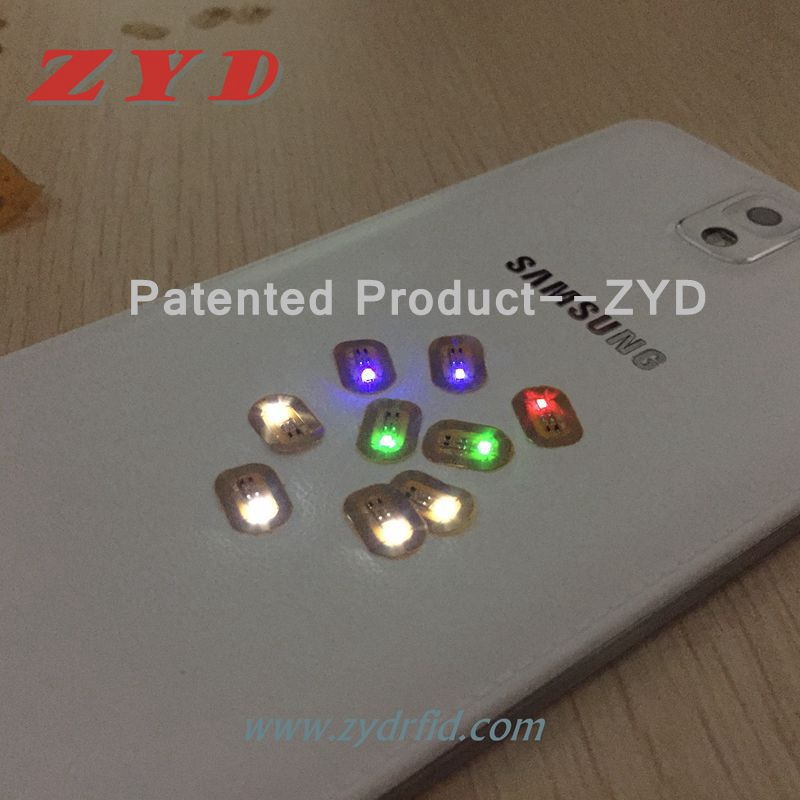 NFC Nails Twinkling Colorful LED lighting
