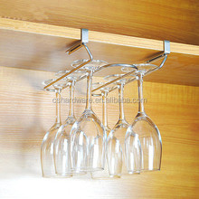 Stainless steel kitchen goblet storage rack, wine glass rack, hanging glass cup holder